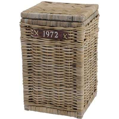 Libra Toba Rectangular Laundry Basket With 1972 Leather Strap