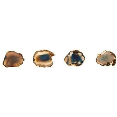 Olivia's Ava Napkin Rings Blue and Gold / Blue
