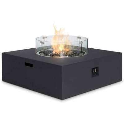 Maze Rattan Fire Pit Coffee Table Charcoal