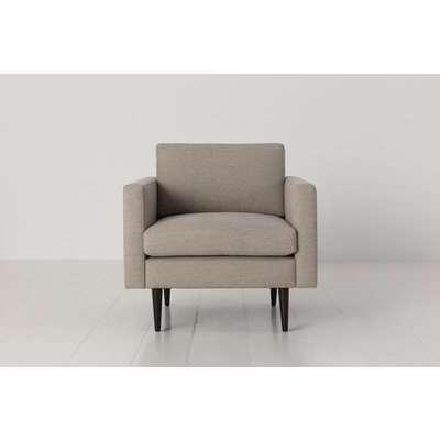 Swyft Model 01 Linen Armchair in Pumice
