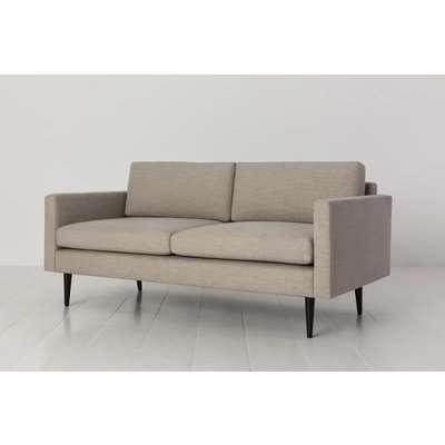 Swyft Model 01 Linen 2 Seater Sofa in Pumice