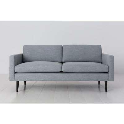 Swyft Model 01 Linen 2 Seater Sofa in Seaglass