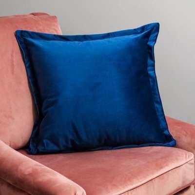 Native Home Navy Blue Velvet Cushion Cover