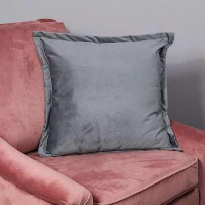 Native Home Snakeskin Textured Grey Velvet Cushion Cover