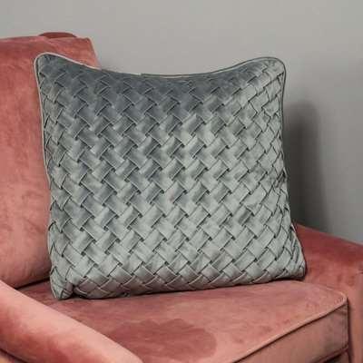 Native Home Woven Grey Velvet Cushion Cover