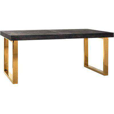 Richmond Blackbone With Extension Gold 6 - 10 Seater Dining Table