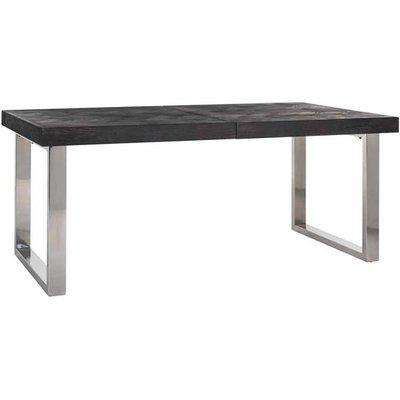 Richmond Blackbone With Extension Silver 6 - 10 Seater Dining Table