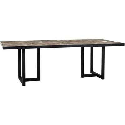 Richmond Herringbone Brown 6 - 8 & 8 -10 Seater Dining Table / Small