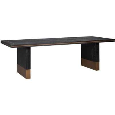 Richmond Hunter Brushed Gold 6 - 8 & 8 -10 Seater Dining Table / Medium