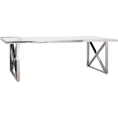 Richmond Levanto Cross-Leg White 6-8 & 8-10 Seater Dining Table / Small