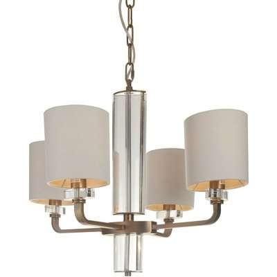 RV Astley Blea Clear Crystal Chandelier Antique Brass Finish