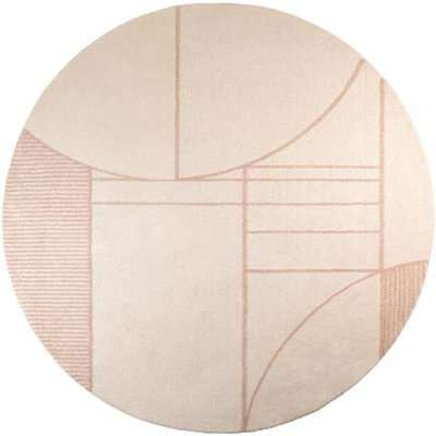 Zuiver Bliss Rug Pink - Round / Natural/Pink / Round