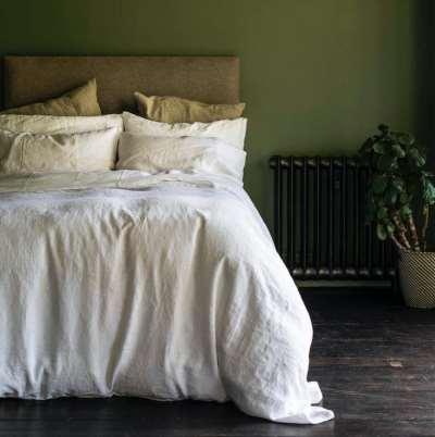 Piglet Deep Teal Bedtime Bundle Size Super King | 100% Natural Stonewashed French flax