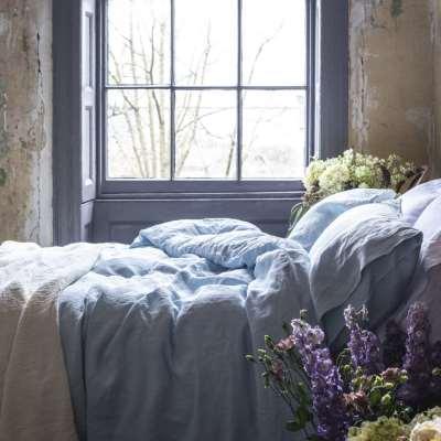 Piglet Blush Pink Bedtime Bundle Size Super King | 100% Natural Stonewashed French flax