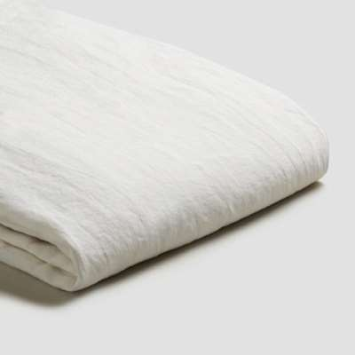 Piglet White Linen Starter Sheet Set Size Double | 100% Natural Stonewashed French flax