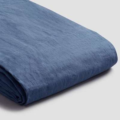 Piglet Blueberry Linen Duvet Cover Set Size Single | 100% Natural Stonewashed French flax