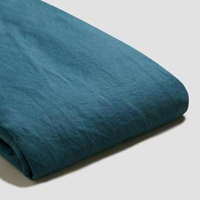Piglet Deep Teal Linen Duvet Cover Set Size Single | 100% Natural Stonewashed French flax