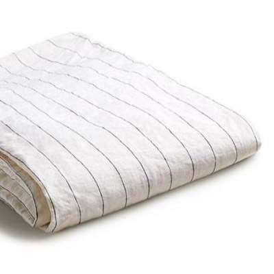 Piglet Luna Stripe Linen Duvet Cover Set Size Single | 100% Natural Stonewashed French flax