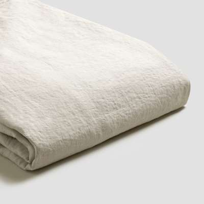 Piglet Oatmeal Linen Duvet Cover Set Size Single | 100% Natural Stonewashed French flax
