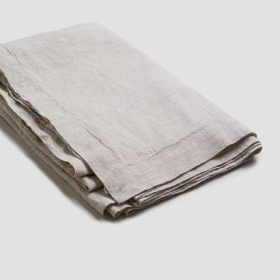 Piglet Oatmeal Linen Tablecloth | 100% Natural Stonewashed French flax