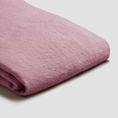 Piglet Raspberry Linen Duvet Cover Set Size Single | 100% Natural Stonewashed French flax