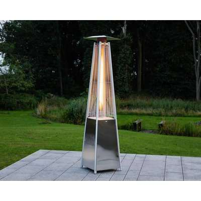 Athens Patio Heater in Silver - Rattan Direct