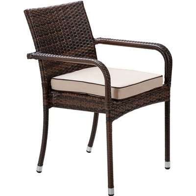 Stacking Rattan Garden Chair in Brown - Roma - Rattan Direct