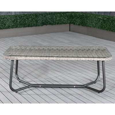 Vasto Rattan Garden Coffee Table in Grey