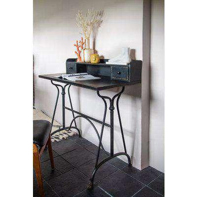 Black Antique-Style Metal Desk
