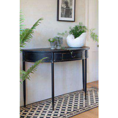 Black Antique Style Metal Console Table