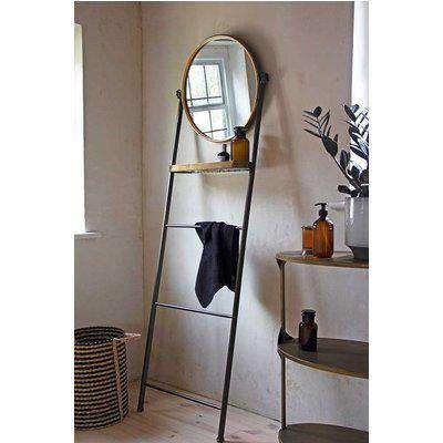 Bathroom Mirror Ladder Storage Unit