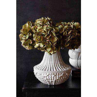 White Bead Effect Chandelier Vase