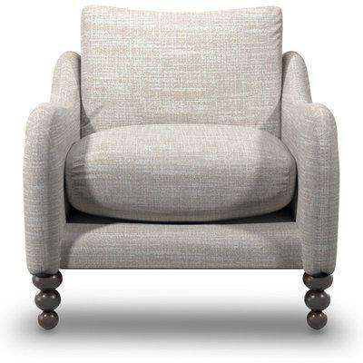 Beautiful Armchair In Alabaster Boucle Fabric