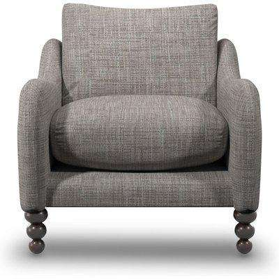 Beautiful Armchair In Natural Oatmeal Boucle Fabric
