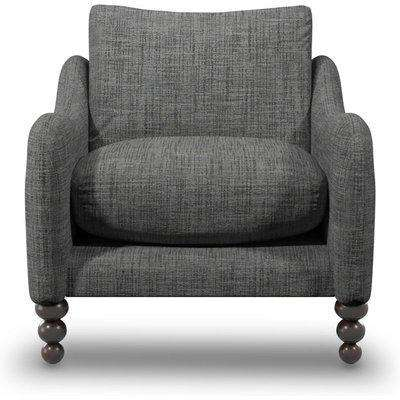 Beautiful Armchair In Shale Boucle Fabric