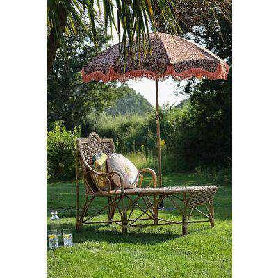 Beautiful Cane Seated Sun Lounger