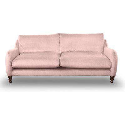 Beautiful Large 3-Seater Sofa In Indigo Blue Velvet