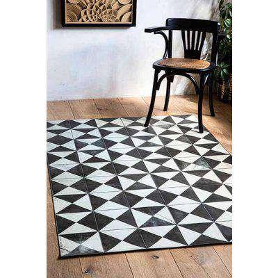 Beija Vinyl Large Floor Rug - Vintage Triangle