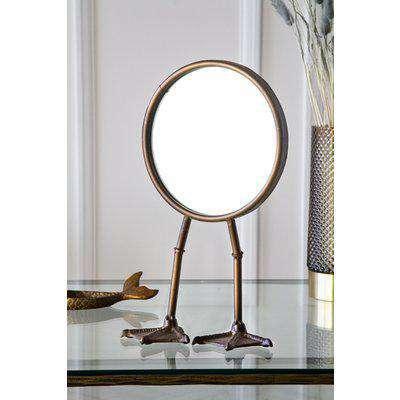 Bronze Bird Feet Table/Vanity Mirror