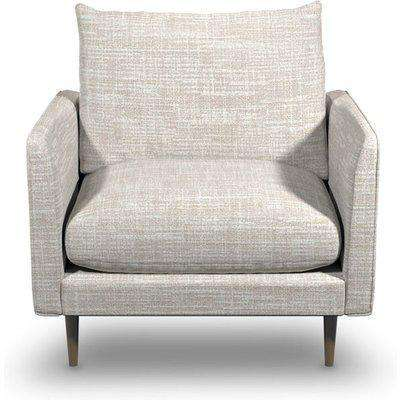 Fabulous Armchair In Alabaster Boucle Fabric