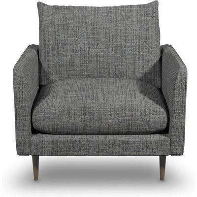 Fabulous Armchair In Shale Boucle Fabric