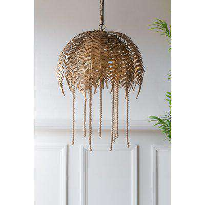 Fern Leaf Palm Tree Style Ceiling Pendant Light