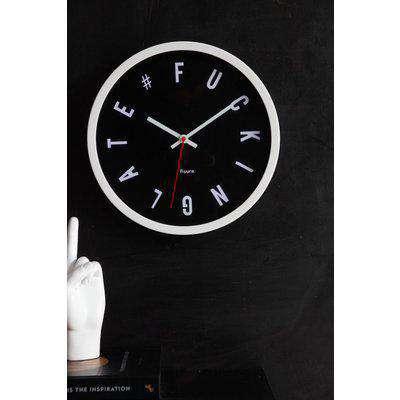 Fucking Late Black Wall Clock