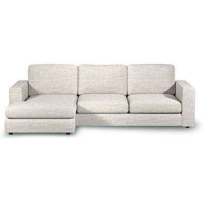 Gorgeous Chaise 3-Seater Sofa In Alabaster Boucle Fabric - Left Handed