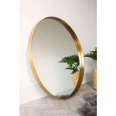 Large Round Mirror With Gold Surround
