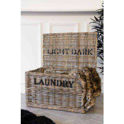Light & Dark Wicker Laundry Hamper