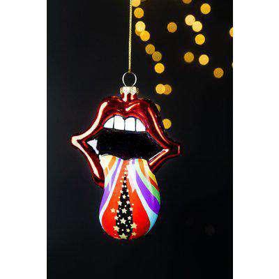 Lips Rainbow Tongue Christmas Tree Decoration