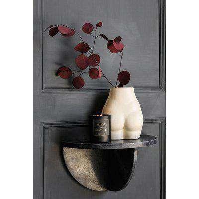 Black Marble Floating Shelf / Side Table