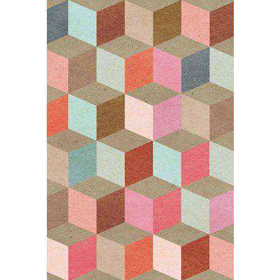 Mind The Gap Coloured Geometry Wallpaper - WP20004 - ROLL - In Stock