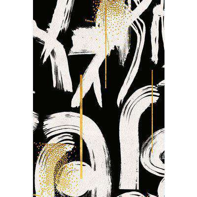 Mind The Gap Gesterual Abstraction Wallpaper - Anthracite WP20331 - SAMPLE
